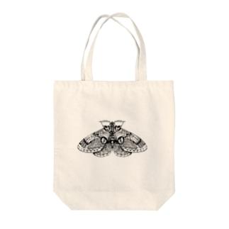イボタガ Tote bags