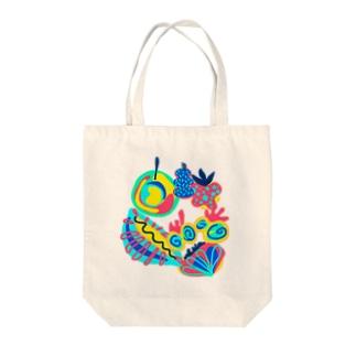 ミステリアスフルーツ Tote bags