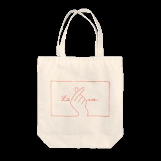 SIRO%(しろぱーせんと)の指ハート(Red) Tote bags