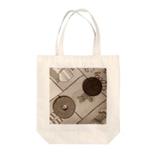 旧50円玉と旧5円玉 Tote bags