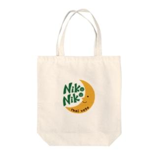 nikoniko月シリーズ Tote bags