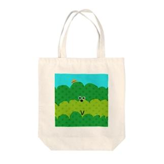 お茶畑くん Tote bags