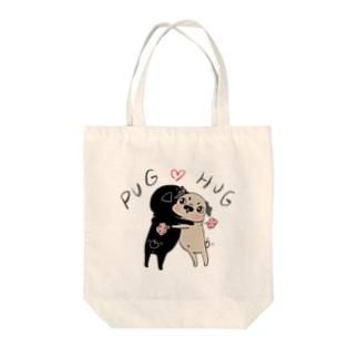 PUG ❤︎ HUG Tote bags