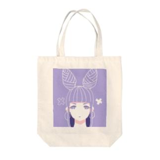 ××ちゃん Tote bags