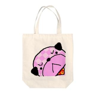 いたずらなパグのプーさん。 Tote bags
