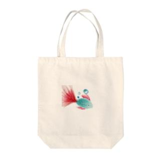 フラワーフィッシュ Tote bags
