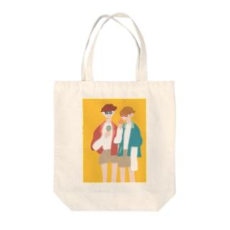 イエローサマー Tote bags