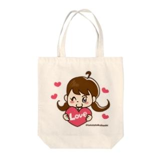 LOVEズキュントート Tote bags