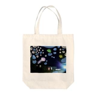 深海夜のコーヒー店 Tote bags