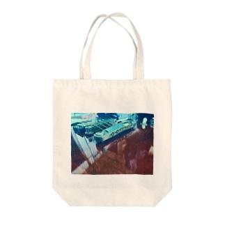 宇宙ギター Tote bags