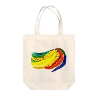 にじいろばなな Tote bags