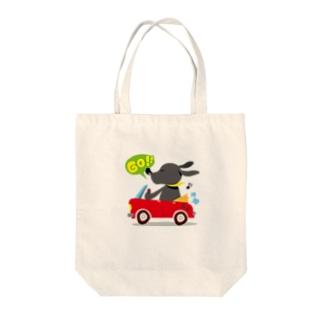 黒ラブしんちゃん Tote bags