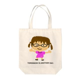 めがねちゃん-01 Tote bags