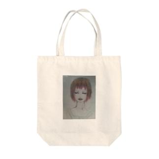 赤髪の女の子 Tote bags