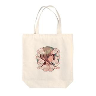 スイートピー Tote bags
