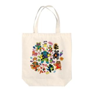 カラフルアニマル Tote bags