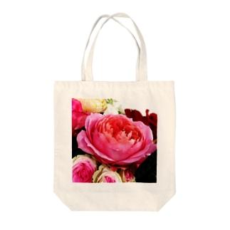 rose_ピンク Tote bags