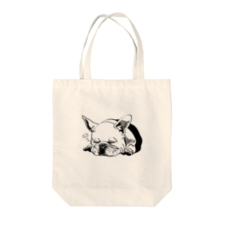 ふれんちぶるどっく(ブルドック) Tote bags