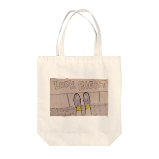 LOOK RIGHT Tote bags