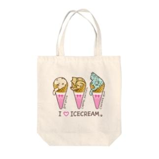 猫アイスクリーム Tote bags