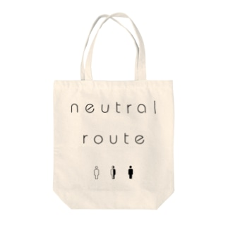 neutral route [Black] Tote bags