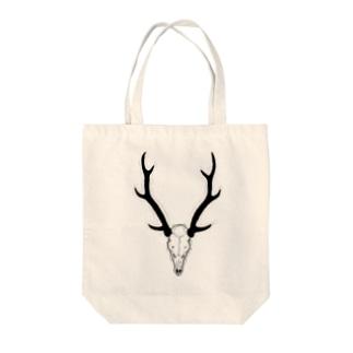 鹿骨 Tote bags