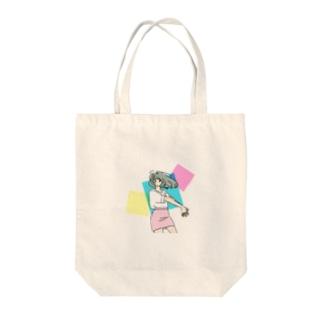 ミニスカポップ Tote bags