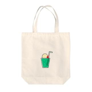 メロンソーダとらんぼちゃん Tote bags