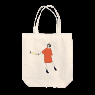 マキノノマの手をひくTシャツワンピ Tote bags