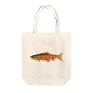 サツキマス Tote bags