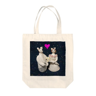 Happyネズミの新郎&新婦 Tote bags