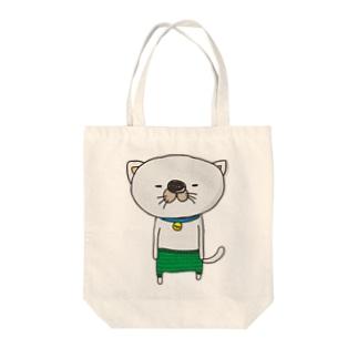 毛糸のパンツをはいた猫 Tote bags