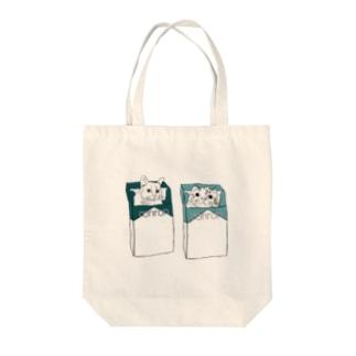 りゅしとあぬ Tote bags