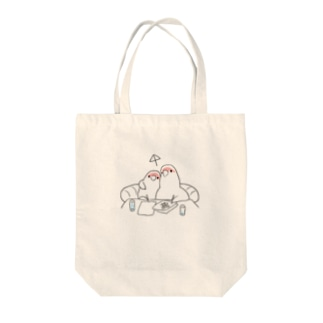 [BUNNNKO CAFE ] コザクラインコ Tote bags