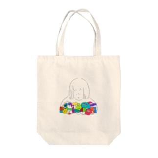 みんなおともだち Tote bags