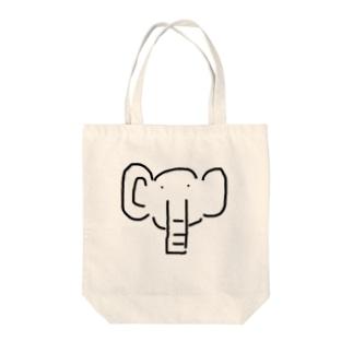 ゾウだぞう Tote bags