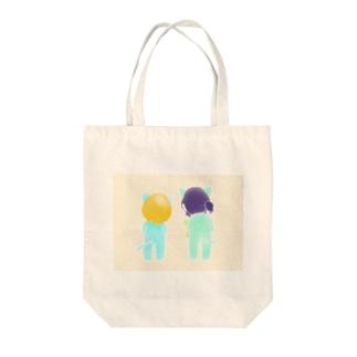 なかよしニャンコ。 Tote bags