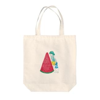 スイカガール Tote bags