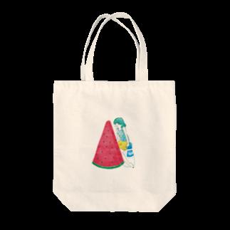 神谷みなみのスイカガール Tote bags