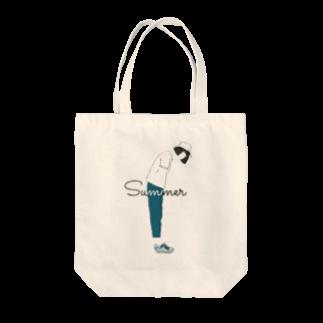 くつしたの夏と女の子 Tote bags