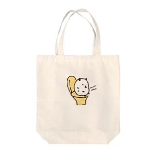 お腹痛いパンダ Tote bags