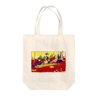 三曲合奏の図 Tote bags