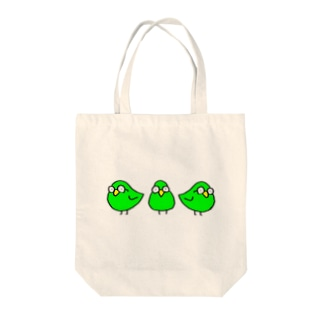 めがわるいとり Tote bags