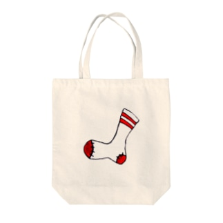 靴下(ライン) Tote bags