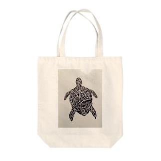 ウミガメ Tote bags