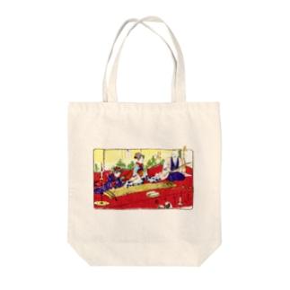 三曲合奏の図(背景無地ver) Tote bags
