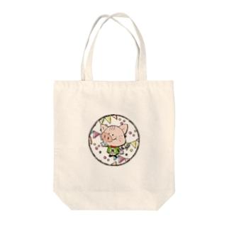 【N】にゃりぶぅアルファベット Tote bags