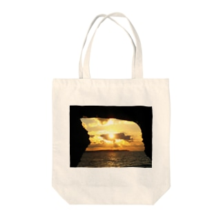 宮古島の夕焼け Tote bags