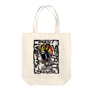 Samurai spirit Tote bags