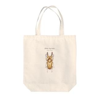 オウゴンオニクワガタ Tote bags